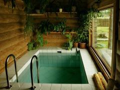 بناء غرف ساونا عشبية