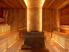 Sauna in hotel