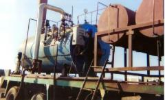 Boiler mounted on truck