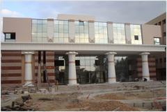 الواجه الرئيسية لمبنى محافظة الفيوم المصنوعة من