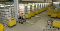 Getting the cargo in indoor warehouse, to open site; the storage and assortment of cargo